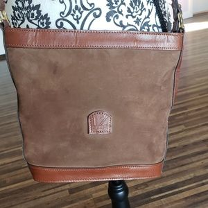 Genuine leather suede crossbody
